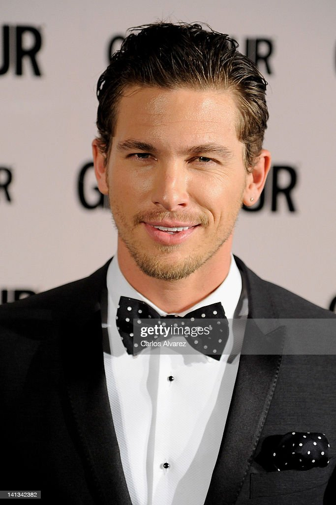 Model <a gi-track='captionPersonalityLinkClicked' href=/galleries/search?phrase=Adam+Senn&family=editorial&specificpeople=5704279 ng-click='$event.stopPropagation()'>Adam Senn</a> attends 'Glamour' beauty awards 2012 at Pacha Club on March 14, 2012 in Madrid, Spain.