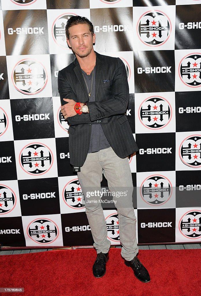 Model Adam Senn attends G-Shock Shock The World 2013 at Basketball City on August 7, 2013 in New York City.