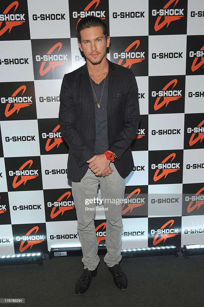 Model Adam Senn attends G-Shock Shock The World 2013 at Basketball City on August 7, 2013 in New York City.