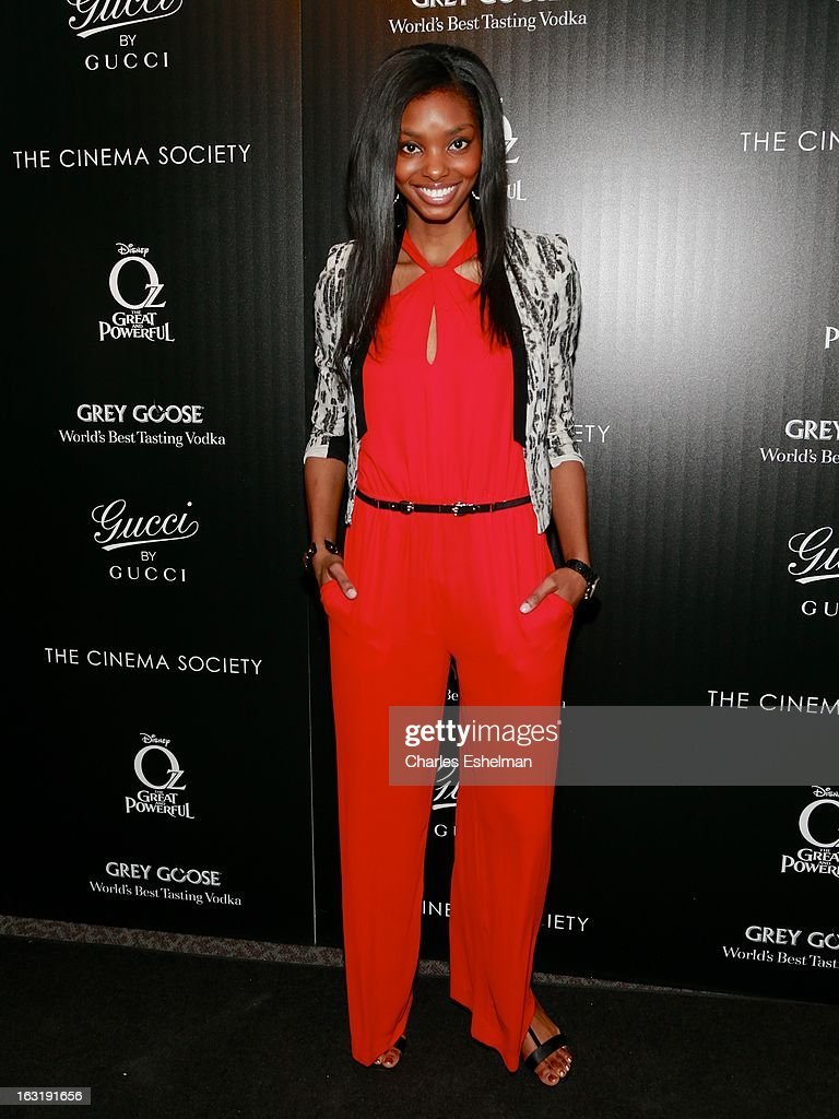 Model Adaora Akubilo attends the Gucci and The Cinema Society screening of 'Oz the Great and Powerful' at the DGA Theater on March 5, 2013 in New York City.