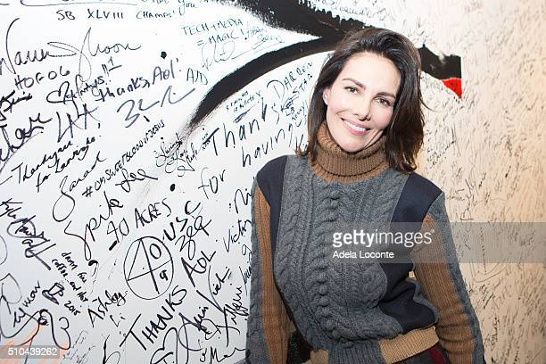 Model Adriana Abascal attends at AOL Studios In New York on February 15 2016 in New York City