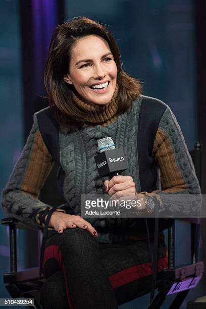 Model Adriana Abascal discusses at AOL Studios In New York on February 15 2016 in New York City