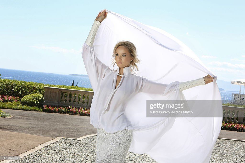 Model <a gi-track='captionPersonalityLinkClicked' href=/galleries/search?phrase=Adriana+Karembeu&family=editorial&specificpeople=207098 ng-click='$event.stopPropagation()'>Adriana Karembeu</a> is photographed for Paris Match on June 21, 2013 in Cap d'Antibes, France.