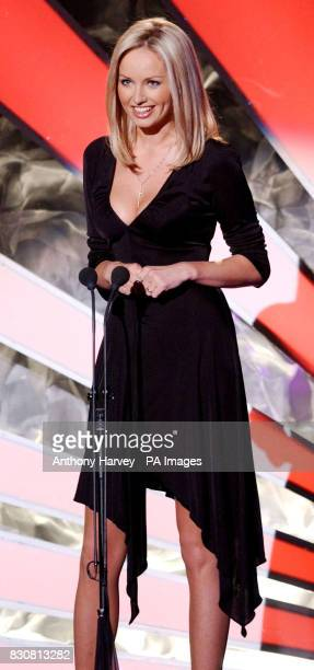 Model Adriana Karembeu presents an award during the World Music Awards at the International Sporting Club Monte Carlo Monaco The show honours the...