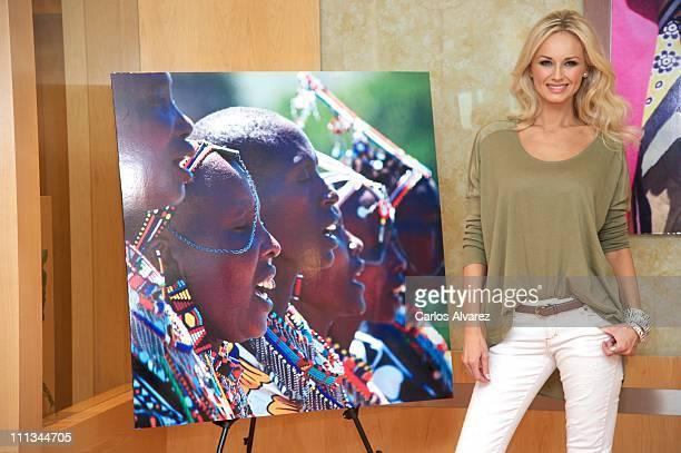 Model Adriana Karembeu presents new 'Pikolino' shoes at El Corte Ingles store on April 1 2011 in Madrid Spain