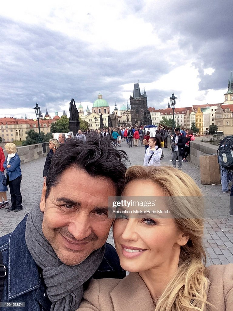 Model <a gi-track='captionPersonalityLinkClicked' href=/galleries/search?phrase=Adriana+Karembeu&family=editorial&specificpeople=207098 ng-click='$event.stopPropagation()'>Adriana Karembeu</a> with her husband Aram Ohanian are photographed for Paris Match on August 31, 2014 in Prague, Czech Republic.