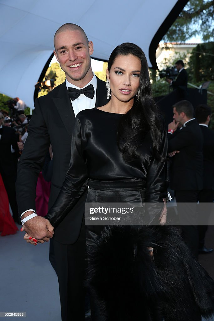 Model Adriana Lima and boyfriend Joe Thomas attend the amfAR's 23rd Cinema Against AIDS Gala at Hotel du CapEdenRoc on May 19 2016 in Cap d'Antibes...