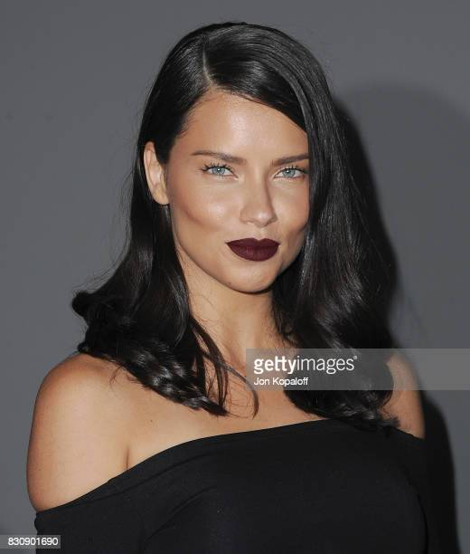 Model Adriana Lima arrives at the 5th Annual Beautycon Festival Los Angeles at Los Angeles Convention Center on August 12 2017 in Los Angeles...
