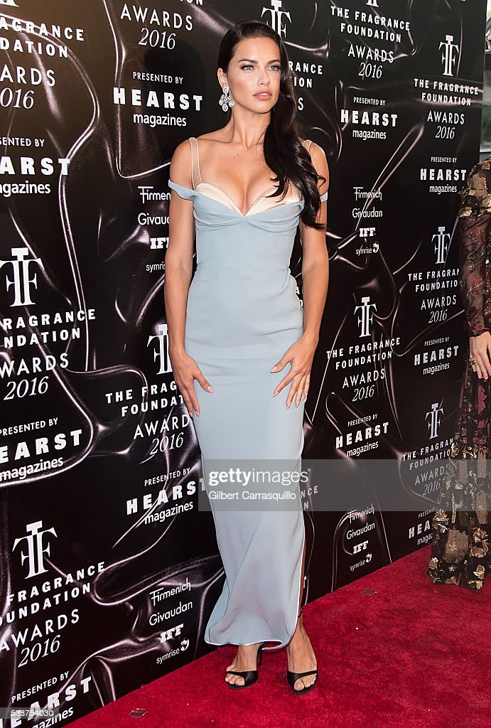 Model Adriana Lima attends 2016 Fragrance Foundation Awards at Alice Tully Hall at Lincoln Center on June 7 2016 in New York City