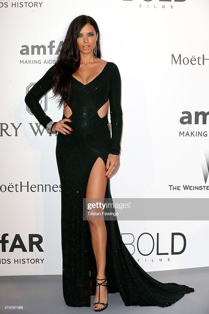 Model <a gi-track='captionPersonalityLinkClicked' href=/galleries/search?phrase=Adriana+Lima&family=editorial&specificpeople=182444 ng-click='$event.stopPropagation()'>Adriana Lima</a> attends amfAR's 22nd Cinema Against AIDS Gala, Presented By Bold Films And Harry Winston at Hotel du Cap-Eden-Roc on May 21, 2015 in Cap d'Antibes, France.
