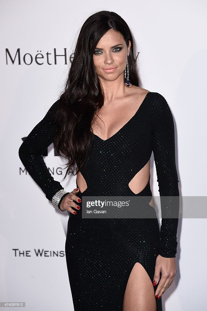 Model Adriana Lima attends amfAR's 22nd Cinema Against AIDS Gala Presented By Bold Films And Harry Winston at Hotel du CapEdenRoc on May 21 2015 in...