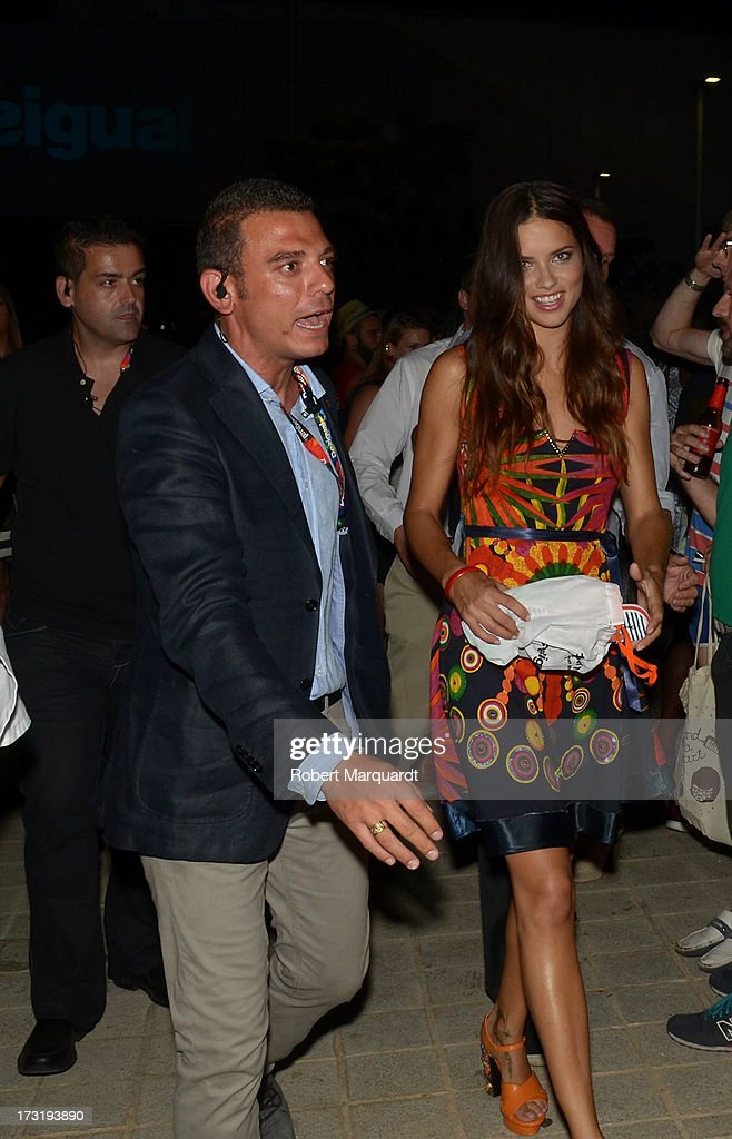 Model <a gi-track='captionPersonalityLinkClicked' href=/galleries/search?phrase=Adriana+Lima&family=editorial&specificpeople=182444 ng-click='$event.stopPropagation()'>Adriana Lima</a> attends an after party for Desigual's Spring-Summer 2014 Collection 'For Everybody: Sex, Fun & Love' during 080 Barcelona Fashion Week on July 9, 2013 in Barcelona, Spain.