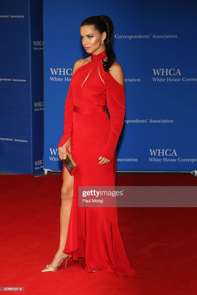Model <a gi-track='captionPersonalityLinkClicked' href=/galleries/search?phrase=Adriana+Lima&family=editorial&specificpeople=182444 ng-click='$event.stopPropagation()'>Adriana Lima</a> attends the 102nd White House Correspondents' Association Dinner on April 30, 2016 in Washington, DC.