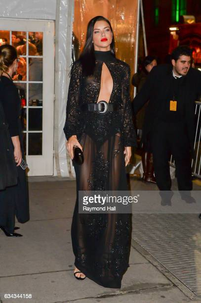 Model Adriana Lima attends the 19th annual amfAR's New York Gala to kick off NY Fashion Week at Cipriani Wall Streeton February 8 2017 in New York...