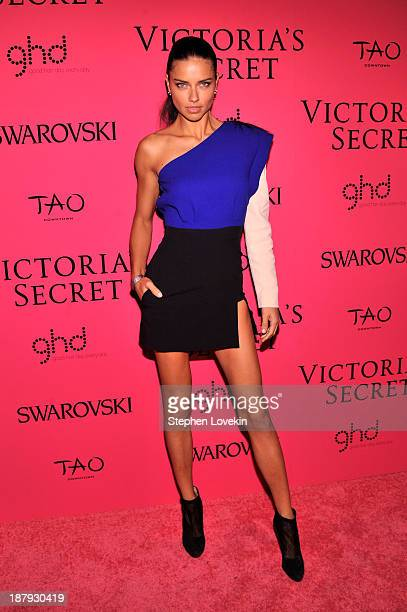 Model Adriana Lima attends the 2013 Victoria's Secret Fashion Show at TAO Downtown on November 13 2013 in New York City