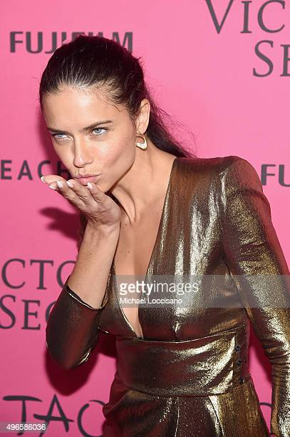 Model Adriana Lima attends the 2015 Victoria's Secret Fashion After Party at TAO Downtown on November 10 2015 in New York City