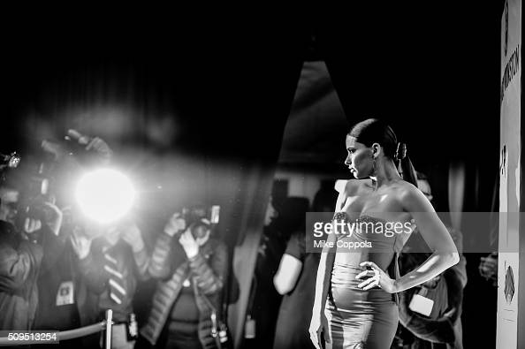 Model Adriana Lima attends the 2016 amfAR New York Gala at Cipriani Wall Street on February 10 2016 in New York City