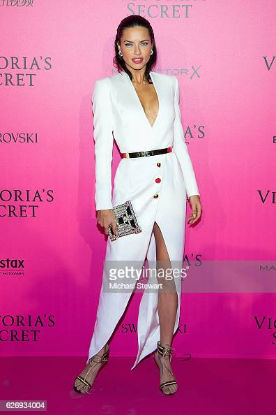 Model Adriana Lima attends the 2016 Victoria's Secret Fashion Show after party at Le Grand Palais on November 30 2016 in Paris France