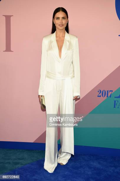 Model Adriana Lima attends the 2017 CFDA Fashion Awards at Hammerstein Ballroom on June 5 2017 in New York City