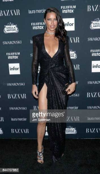 Model Adriana Lima attends the 2017 Harper's Bazaar Icons at The Plaza Hotel on September 8 2017 in New York City