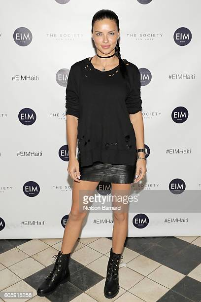 Model Adriana Lima attends the 4th Annual Back to School Fundraiser presented by English in Mind Institute and The Society New York Model Management...