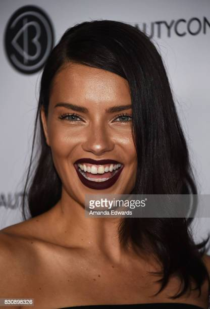 Model Adriana Lima attends the 5th Annual Beautycon Festival Los Angeles at the Los Angeles Convention Center on August 12 2017 in Los Angeles...