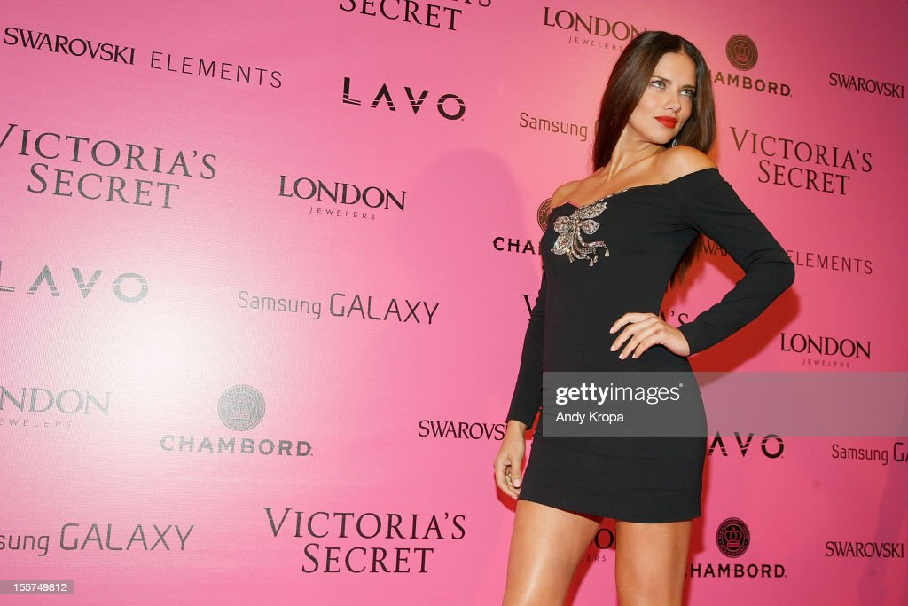 Model <a gi-track='captionPersonalityLinkClicked' href=/galleries/search?phrase=Adriana+Lima&family=editorial&specificpeople=182444 ng-click='$event.stopPropagation()'>Adriana Lima</a> attends the after party for the 2012 Victoria's Secret Fashion Show at Lavo NYC on November 7, 2012 in New York City.