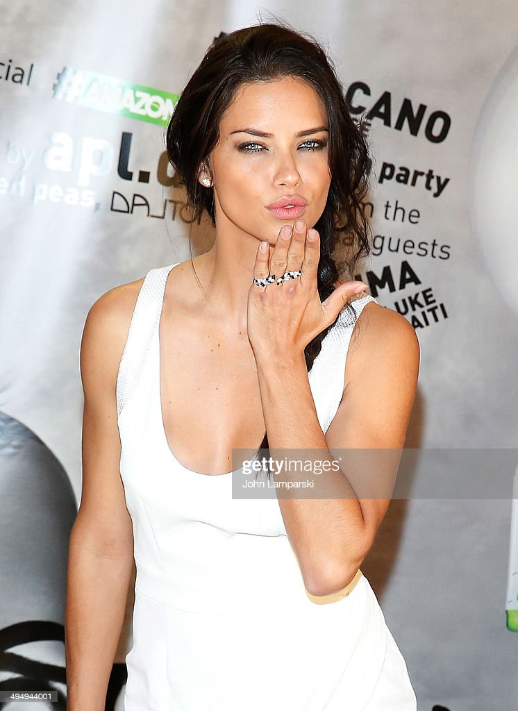 Model <a gi-track='captionPersonalityLinkClicked' href=/galleries/search?phrase=Adriana+Lima&family=editorial&specificpeople=182444 ng-click='$event.stopPropagation()'>Adriana Lima</a> attends the Amazonia Beverages' Urban Jungle Campaign Kickoff at Dream Downtown on May 31, 2014 in New York City.