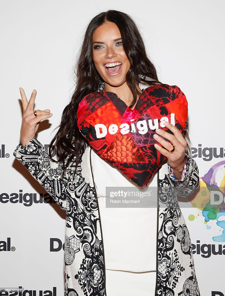 Model adriana lima attends the desigual fashion show during mercedes benz fashion week fall 2015