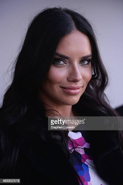 Model Adriana Lima attends the Gabriela Cadena fashion show during MercedesBenz Fashion Week Fall 2015 on February 12 2015 in New York City