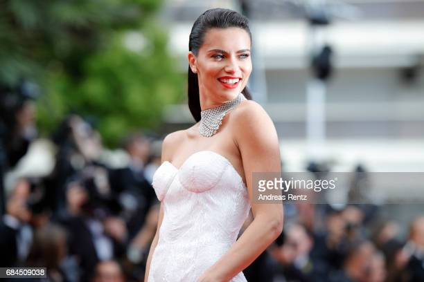 Model Adriana Lima attends the 'Loveless ' screening during the 70th annual Cannes Film Festival at Palais des Festivals on May 18 2017 in Cannes...