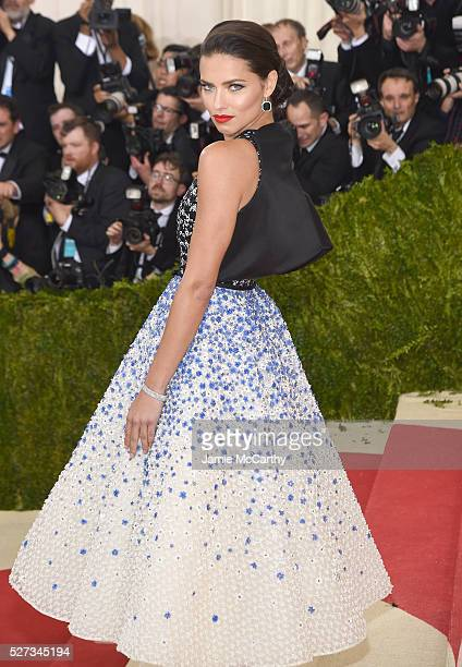 Model Adriana Lima attends the 'Manus x Machina Fashion In An Age Of Technology' Costume Institute Gala at Metropolitan Museum of Art on May 2 2016...