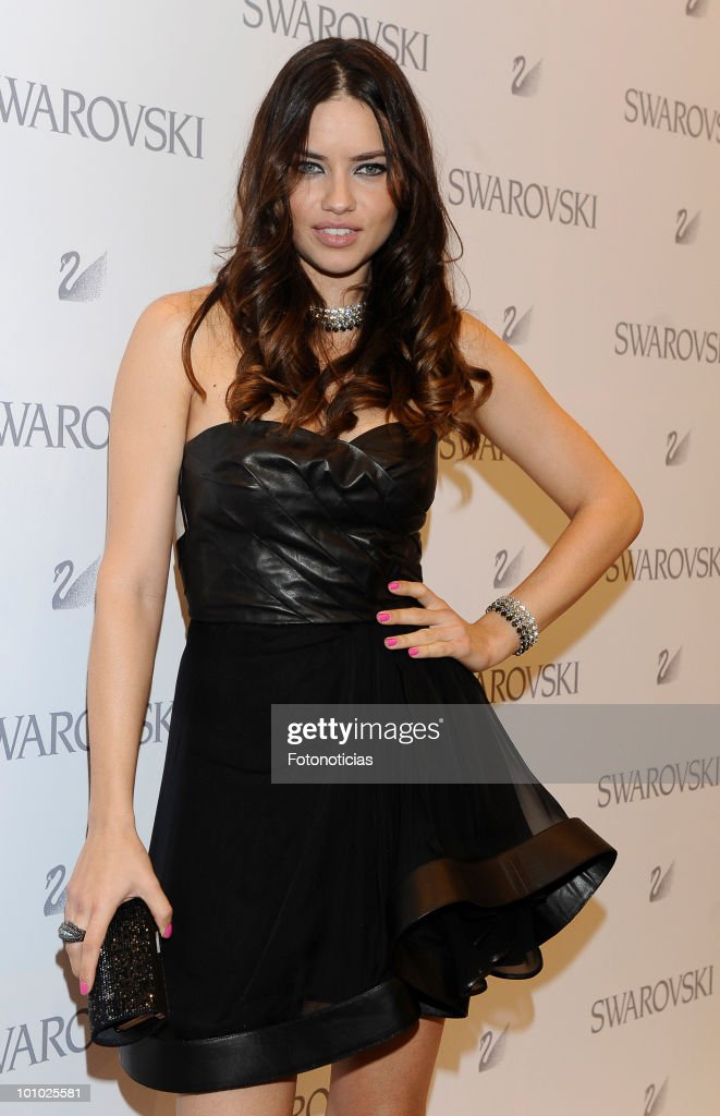 Adriana Lima at the Opening of Swarovski New Boutique in Madrid