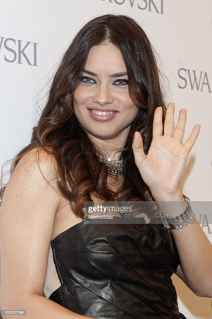 Model Adriana Lima attends the opening of the new Swarovski boutique on Gran Via street on May 27, 2010 in Madrid, Spain.