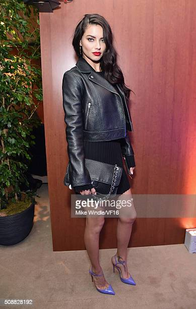 Model Adriana Lima attends the Vanity Fair Super Bowl Party hosted by Graydon Carter Jon Bon Jovi Honors Super Bowl 50 Host Committee 50 Fund...