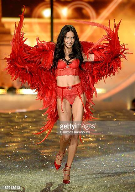 Model Adriana Lima walks the runway at the 2013 Victoria's Secret Fashion Show at Lexington Avenue Armory on November 13 2013 in New York City