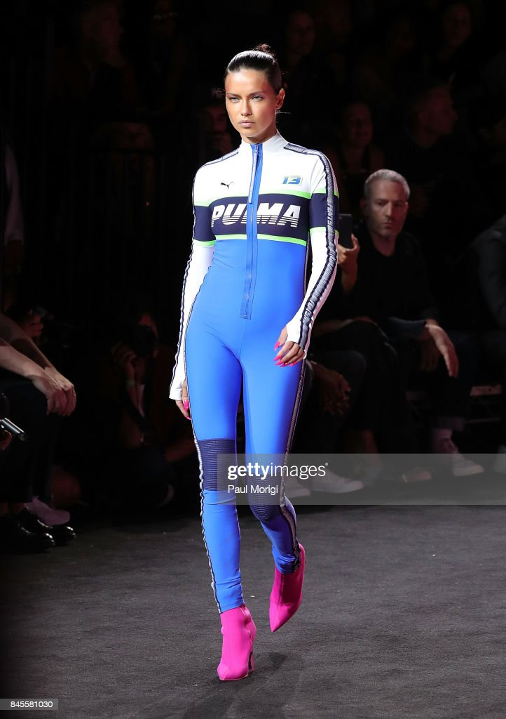 Model Adriana Lima walks the runway at the Fenty Puma by Rihanna show during New York Fashion Week at the 69th Regiment Armory on September 10, 2017 in New York City.