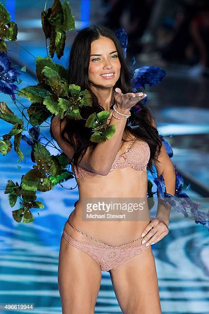 Model Adriana Lima walks the runway during the 2015 Victoria's Secret Fashion Show at the Lexington Armory on November 10 2015 in New York City