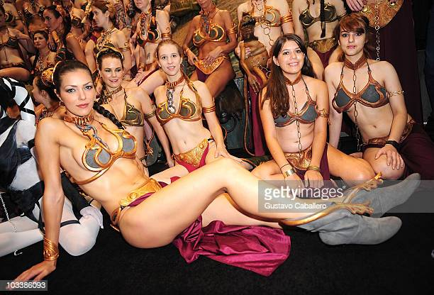 Model Adrianne Curry attends Star Wars Celebration V at Orange County Convention Center on August 14 2010 in Orlando Florida