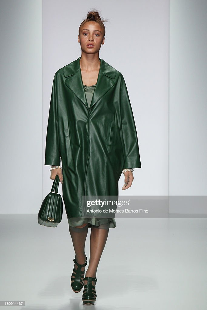 Model Adwoa Aboah walks the runway at the Simone Rocha show during London Fashion Week SS14 on September 17, 2013 in London, England.