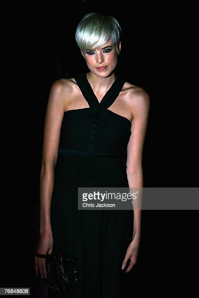 Model Agyness Deyn arrives at the The Golden Age Of Couture party at the VA on September 18 2007 in London England