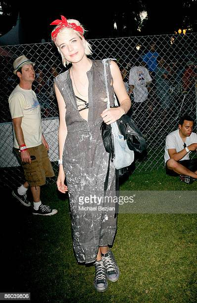 Model Agyness Deyn at the 2009 Coachella Valley Music Arts Festival at the Empire Polo Club on April 19 2009 in Indio California