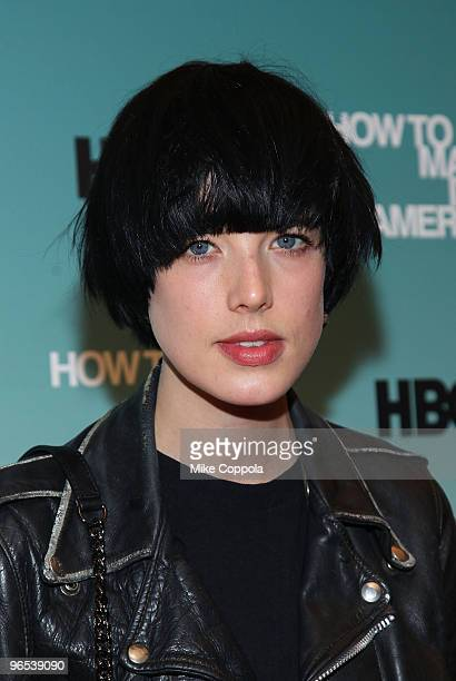 Model Agyness Deyn attends the Cinema Society and HBO screening of 'How to Make it in America' at Landmark's Sunshine Cinema on February 9 2010 in...