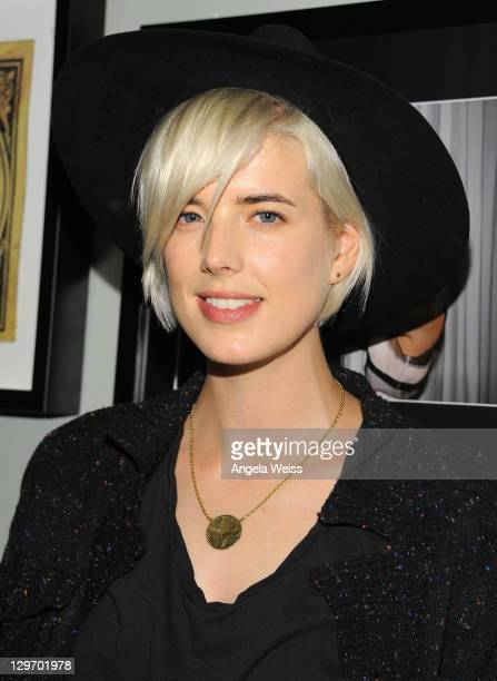 Model Agyness Deyn attends the Galvin Benjamin Salon Launch Event on October 19 2011 in West Hollywood California