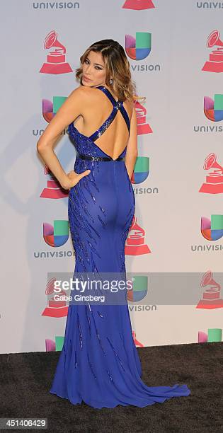 Model Aida Yespica poses in the press room during The 14th Annual Latin GRAMMY Awards at the Mandalay Bay Events Center on November 21 2013 in Las...