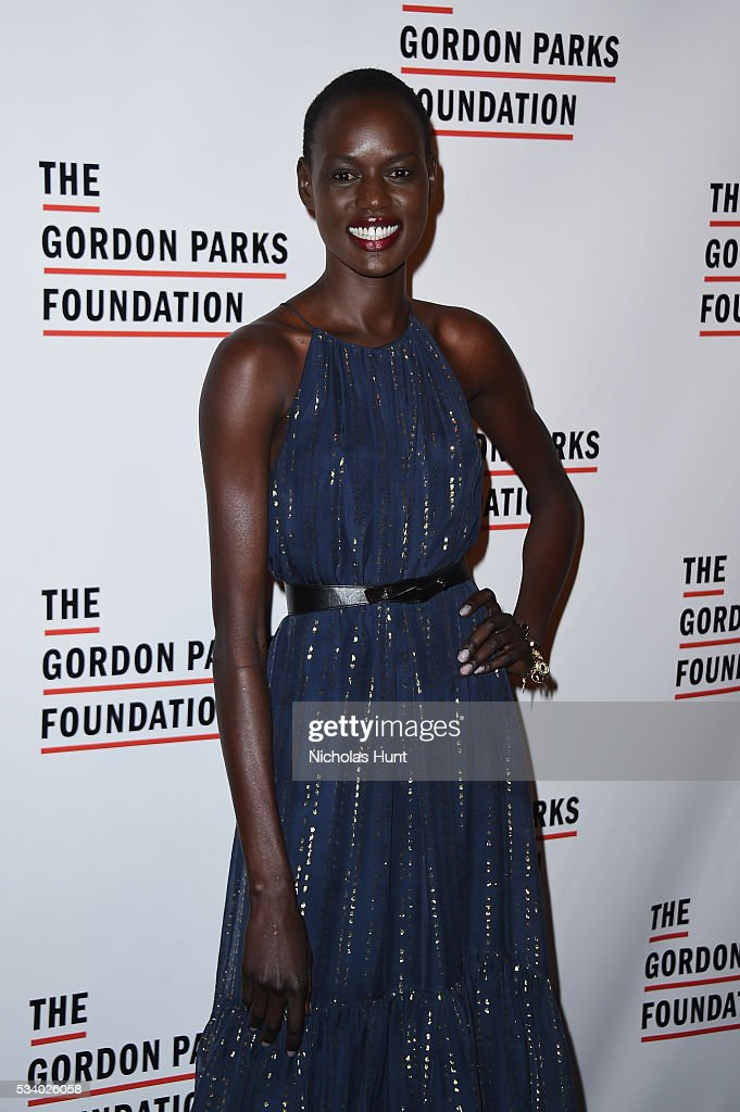 Model Ajak Deng attends the 2016 Gordon Parks Foundation awards dinner at Cipriani 42nd Street on May 24, 2016 in New York City.