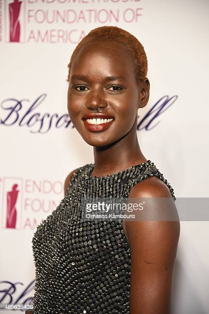 Model Ajak Deng attends the 7th Annual Blossom Ball Benefiting The Endometriosis Foundation Of America Hosted By EFA Founders Padma Lakshmi And Tamer...
