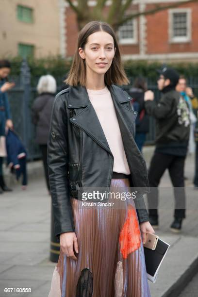 Model Alana Zimmer wears all Christopher Kane on day 4 of London Womens Fashion Week Autumn/Winter 2017 on February 20 2017 in London England