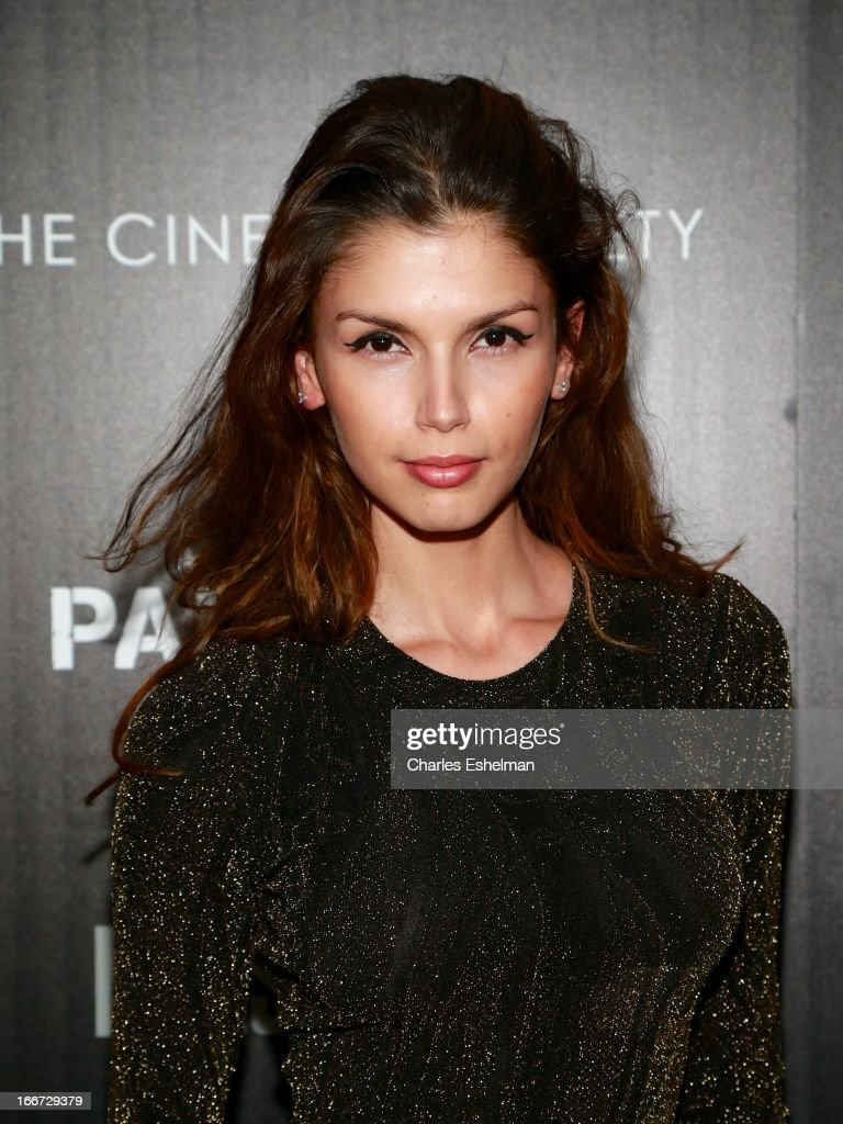 Model Alejandra Cata attends The Cinema Society and Men's Fitness screening of 'Pain and Gain' at the Crosby Street Hotel on April 15, 2013 in New York City.