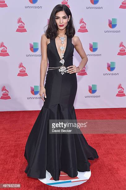 Model Alejandra Espinoza attends the 16th Latin GRAMMY Awards at the MGM Grand Garden Arena on November 19 2015 in Las Vegas Nevada
